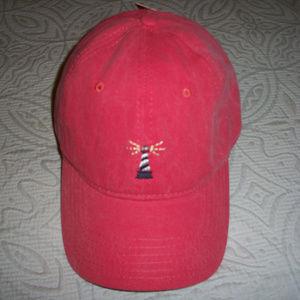 Izod Adjustable Lightouse Motif Baseball Cap Hat
